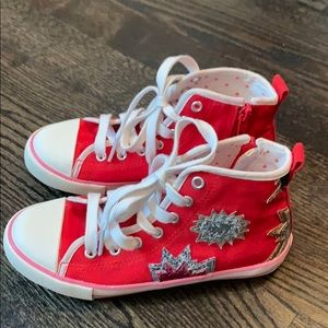 Mini Boden high tops sneakers/size 31